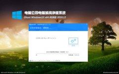 电脑公司Windows10 家庭纯净版64位 v2019.12